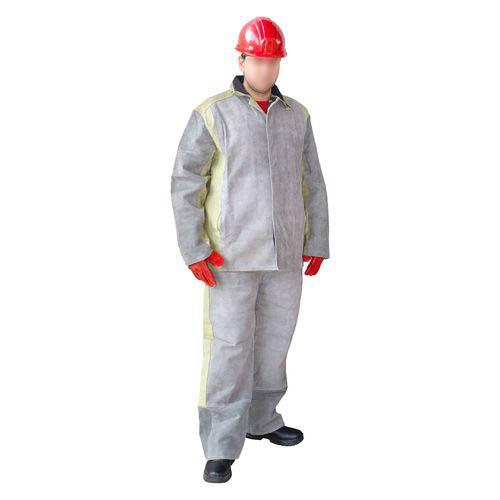 Защита от повышенных температур, Костюм сварщика спилковый с брезентом, артикул: ЗО-0009